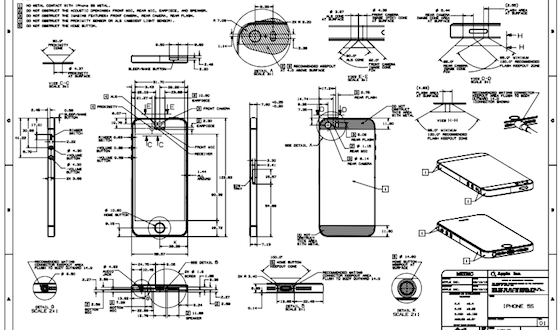 Schematische tekeningen van de iPhone 5C en iPhone 5S vrijgegeven ...