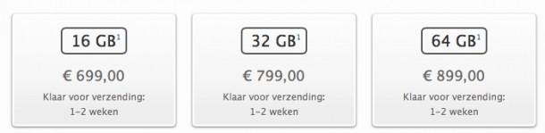 levertijd iPhone 5s