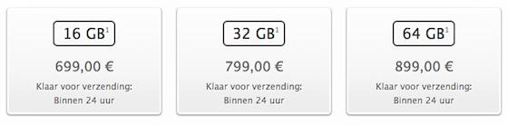 iPhone-5s levertijd